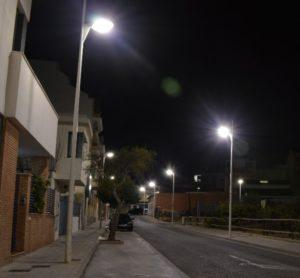 Calle Joanot Martorell (iluminada)