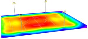 Simulación uniformidad lumínica