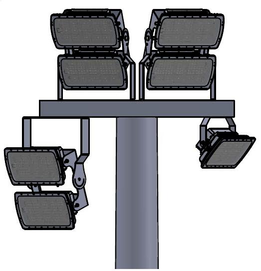 Matriz doble sobre poste de iluminación